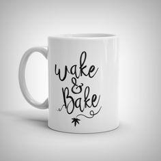 Wake & Bake in white - Mug - 1