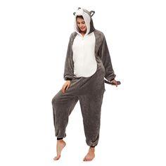 Female Pajamas 3D Huskie Sleepcloth – alfagoody Adult Pajamas, Animal Pajamas, Pajamas Women, Cute Onesies, Animal Costumes, Club Dresses, Animals For Kids, Lounge Wear