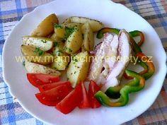 Zapečené kuřecí se slaninou a sýrem – Maminčiny recepty Caprese Salad, Chicken, Meat, Insalata Caprese, Buffalo Chicken, Cubs, Rooster