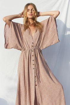 Comfy Dresses, Linen Dresses, Casual Dresses, Summer Dresses, Bohemian Maxi Dresses, Linen Dress Pattern, Cute Maxi Dress, Look Fashion, Womens Fashion