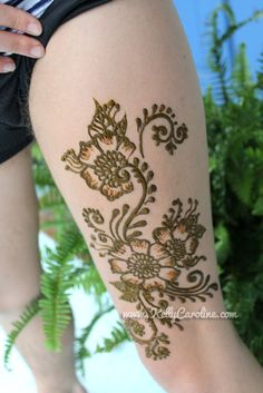 sexy henna design. tattoo for the upper thigh