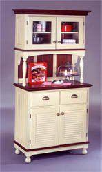 Wood Kitchen Buffet Hutch