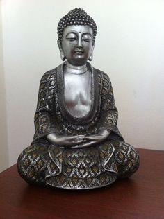 Buddha Statue Sitting Buddha Buddha Figure Buddha Sculpture Asian Home Decor Hindu Statue Oriental Decor Zen Decor Asian Garden on Etsy, $94.99