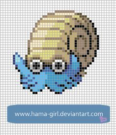 Omanyte by Hama-Girl