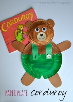 Read Corduroy and make this adorable Paper Plate Corduroy Craft to go along with it. Fun craft for kids and preschool. | From http://iheartcraftythings.com