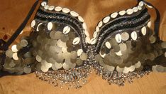 belly dance bra with shells