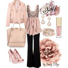 Soft Pinks, created by nancy-ellyn on Polyvore