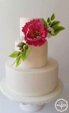 Gumpaste Peony Flower by Perfect Indulgence Cakes - http://cakesdecor.com/cakes/267893-gumpaste-peony-flower
