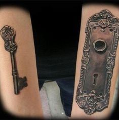 Lock and Key Cute Couples Tattoos Quotes