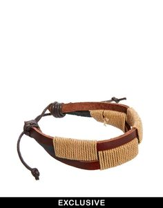 Reclaimed Vintage Woven Leather Bracelet