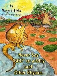 """Cover from PB """"Never say BOO to a Frilly,"""" illustrated by Aysin Eroglu.  Author Margot Finke."""