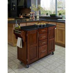 Home Styles Large Kitchen Cart, Cottage Oak / Black Granite Top - Walmart.com