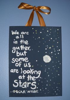 """Items similar to Oscar Wilde """"Stars"""" Wall Hanging on Etsy Look At The Stars, Stars And Moon, Quotable Quotes, Me Quotes, Meaningful Quotes, Inspirational Quotes, Oscar Wilde Quotes, Star Wall, Business Quotes"""