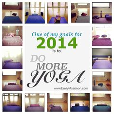 Some photos from my own practice.  Here's to even MORE yoga in 2014!  #yogapractice #motivation #justdoit