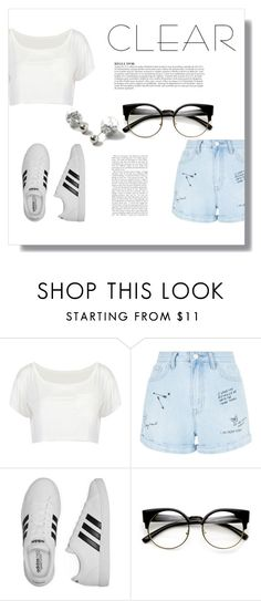 """""""Untitled #388"""" by bubblegxum ❤ liked on Polyvore featuring New Look, adidas, ZeroUV, Anja, Dorothy Perkins, clear and Seethru"""