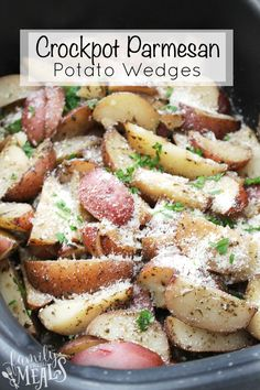 ThisCrockpot Parmesan Potato Wedges recipe gives potatoes a chance to get dressed up for dinner, and it takes almost no work.