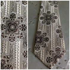 Vintage 70s Mens Wide Tie   Disco Era  Brown Silver by bamapana, $12.00