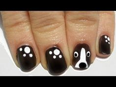 Wear this easy dog nail art to your next holiday shelter fundraiser! Simple nail designs are elegant yet still eye-catching...
