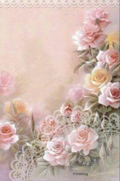 Ideas For Flowers Vintage Decoupage Manualidades Art Floral, Vintage Cards, Vintage Paper, Vintage Images, Decoupage Vintage, Illustration Blume, China Painting, Paper Background, Background Vintage