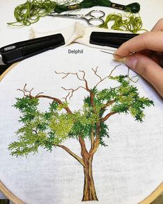 Soon available on etsy ✌ .To be continued 🌳 . Embroidery Flowers Pattern, Creative Embroidery, Japanese Embroidery, Hand Embroidery Stitches, Silk Ribbon Embroidery, Crewel Embroidery, Hand Embroidery Designs, Embroidery Techniques, Embroidery Kits