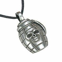 Skull Grenade Pewter Pendant Necklace Dan Jewelers. $13.57. Satisfaction guaranteed.. Does not tarnish. Good value. Hypoallergenic. Dan Jewelers has tens of thousands of positive feedbacks across the internet.