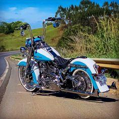 Harley Davidson Custom Bike, Harley Davidson Chopper, Harley Davidson Sportster, Chicano, Custom Street Bikes, Custom Bikes, Hd Motorcycles, Harley Softail, Harley Bikes