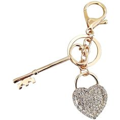 AM Landen Elegant Rhinestone Bling Key-chains Series(Gold Purse Rose)... ($6.99) ❤ liked on Polyvore featuring accessories, fob key chain, key chain rings, gold key ring, keychain key ring and gold key chain