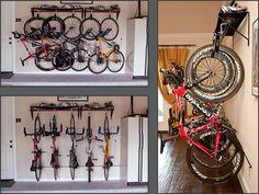 Best bike rack out there.   De VeloGrip.com, las cintas son menos dañinas para las llantas que ganchos metálicos.