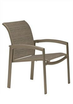 (QTY 49) Fabric: Lewes Finish: Moab Elance Relaxed Sling Dining Chair | Tropitone