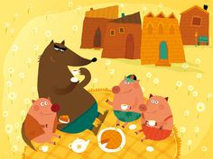 The Three Little Pigs Illustrations The three little pigs (3)