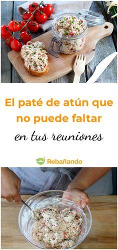 Un delicioso paté de atún que no puede faltar en tus reuniones #atún #pescado #paté #recetasdeliciosas #botanas #picoteo