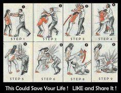 Life Saving Poster - PositiveMed #女性自衛動作,附影片。
