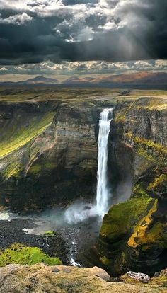 Haifoss waterfall, Iceland by Cane Jason