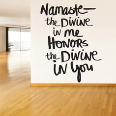 Wall Decal Vinyl Sticker Decals Namaste Indian Yoga Hamsa Words Sign Quote Z1343 | eBay