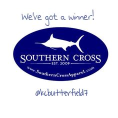 We've got a winner for the #decal #giveaway! Congrats @kcbutterfield7 !  Message us your name and address and we will ship it to you! :) Thanks to everyone who participated! Check out our website to see our full line of apparel and accessories! Find a retailer near you or order directly!  http://ift.tt/1m7YrY2 #winner #southerncrossapparel #southerncrossapparelgirls #southerncrossapparelreps #mondaygiveaway #southernstyle #marlin #preppy #outdoorwear