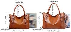 AINIMOER Women's Large Genuine Leather Vintage Shoulder Handbags Ladies Top-handle Purse Cross Body Bag(Sorrel)