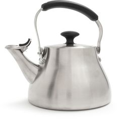 Shop OXO Stainless Steel Teakettle and more from Sur La Table! Cast Iron Pot, Cast Iron Cookware, Cookware Sale, Glass And Aluminium, Appliance Sale, Pour Over Coffee, All Stainless Steel, Tools For Sale, Tea Pots