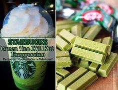 We can't get enough of Starbucks Green Tea Kit Kat Frappuccino! Sooo good!