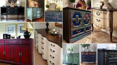 Ιδέες για τεχνικές παλαίωσης-βάψιμο σε Παλιούς Μπουφέδες Buffet, Dresser, Cabinet, Storage, Antiques, Diy, Furniture, Home Decor, Clothes Stand