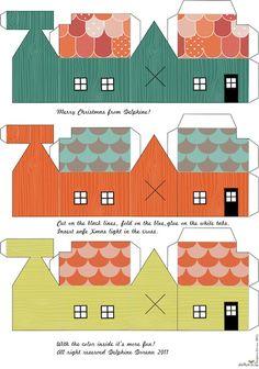 FREE printable mini houses / Le lapin dans la lune - Non dairy Diary