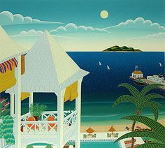 Thomas McKnight, St. Kitts, Serigraph on Paper, Limited Edition