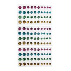 Neon Animal Print Adhesive Jewels - OrientalTrading.com
