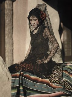 A young Mexican woman poses in a black mantilla costume in 1928. We have a feeling that Domenico Dolce and Stefano Gabbana might be rather well-acquainted with this imagePhotograph: Clifton R Adams/National Geographic Society/Corbis