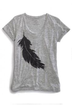 Feather Burn Out Jersy Knit T