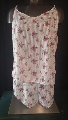 Nancy King vtg sissy lingerie NOS camisole cami tap panties set polyester XXL #NancyKing