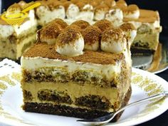 Sernik na zimno - Tiramisu Tiramisu, Polish Recipes, Polish Food, Baked Chicken, Cheesecakes, Sweet Tooth, Deserts, Food And Drink, Cooking Recipes