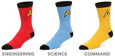 Let your feet boldly go where they've never gone before with these awesomely geeky Officially Licensed Star Trek Socks. Star Trek Voyager, Star Trek Tos, Star Wars, Work Socks, Running Costumes, Smosh, Geek Fashion, Geek Humor, Geek Out