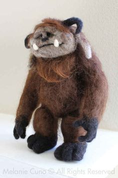 Needle felted Ludo from The Labyrinth
