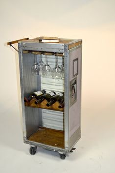 Airline Beverage Cart Bar by CustomRusticsLTD on Etsy