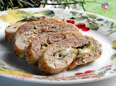 Polpettone con zucchine e scamorza, squisito secondo piatto ripieno di verdura e formaggio filante!